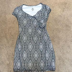 Prana faux wrap print dress
